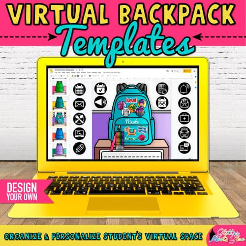 virtual backpack templates for elementary kids