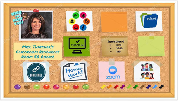 virtual classroom homepage idea for teachers