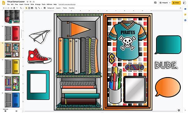virtual locker design for middle school students