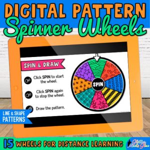 digital spinner wheels on google slides for art teachers