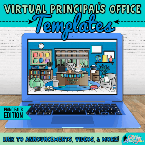 virtual principals office classroom bitmoji template