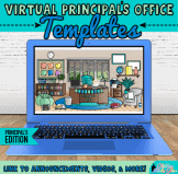 virtual principals office templates on google slides for administrators