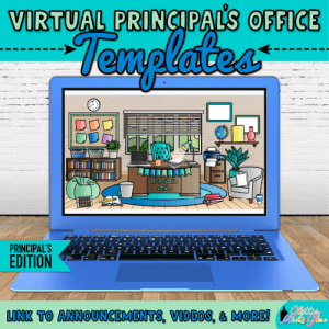 virtual principals office templates on google slides for administrators