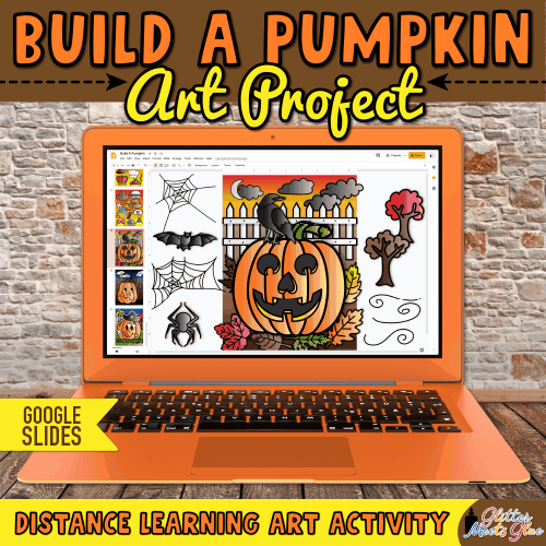 digital pumpkin art project for elementary kids
