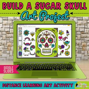 digital sugar skull art project on google slides for kids