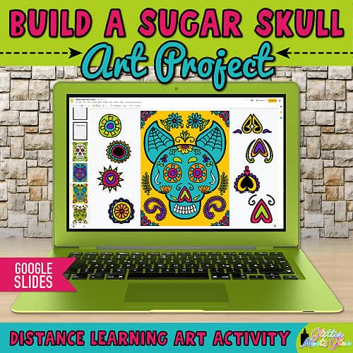 sugar skull art project for kids distance learning