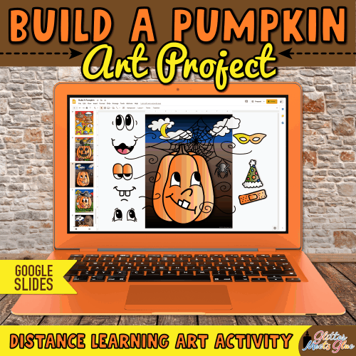 virtual pumpkin art lesson for distance learning