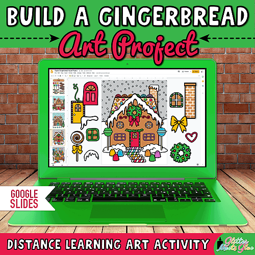 christmas gingerbread house craft for distance learning
