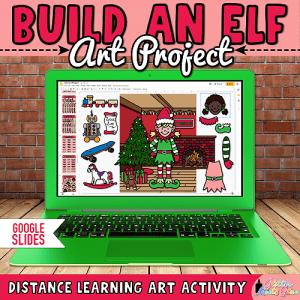 digital build an elf art project for kids on Google Slides