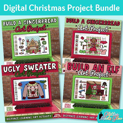 digital christmas art project bundle for kids