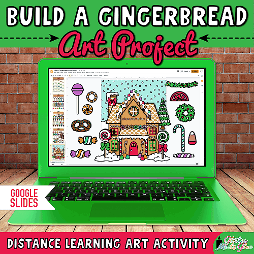 digital gingerbread house project for kids during distance learning