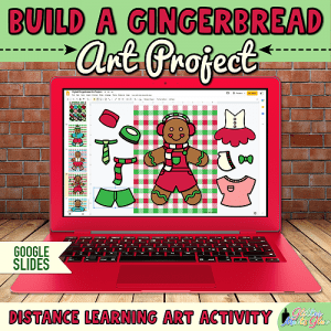 digital gingerbread man art project for kids