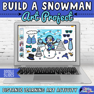 digital snowman art project for kids distance learning