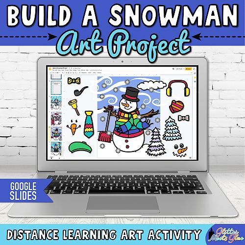 digital snowman craft for hybrid learning