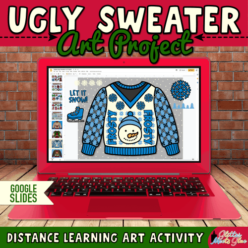 digital ugly christmas sweater project