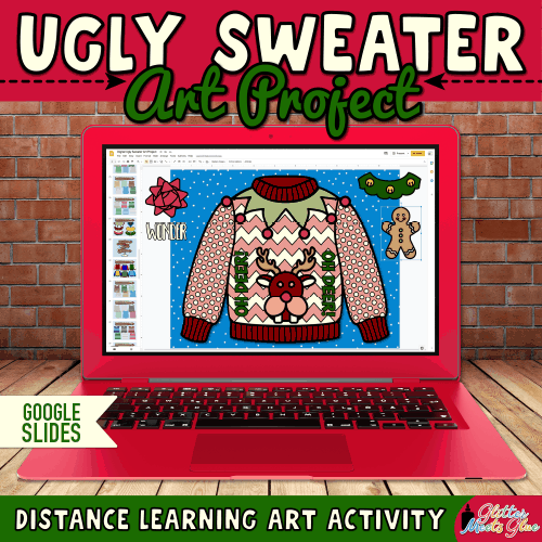 digital ugly sweater art project for kids