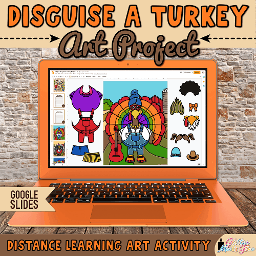disguise a turkey activity on google slides for distance learning