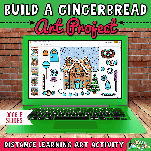 digital gingerbread house template for kids