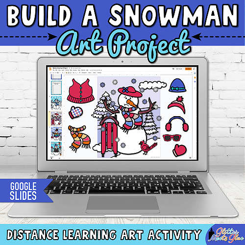 how to build a snowman virtual craft