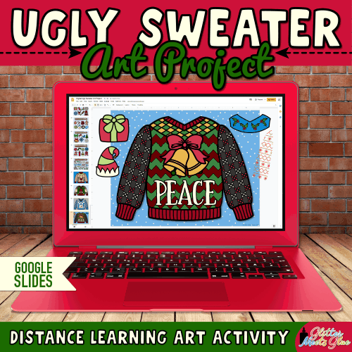 virtual ugly sweater design project for remote learning