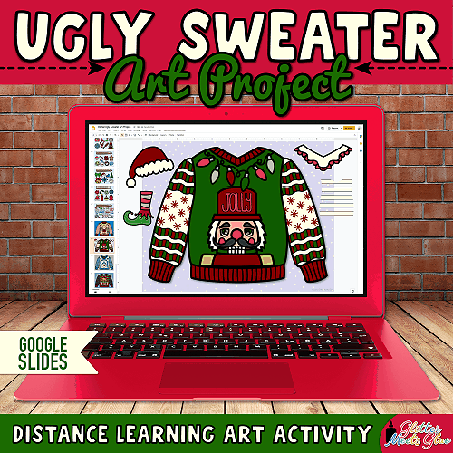 virtual ugly sweater art project for distance learning