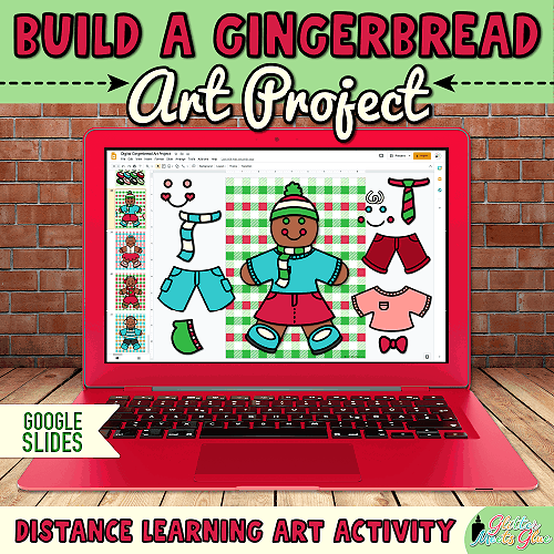 gingerbread winter art projects for kids during distance learning