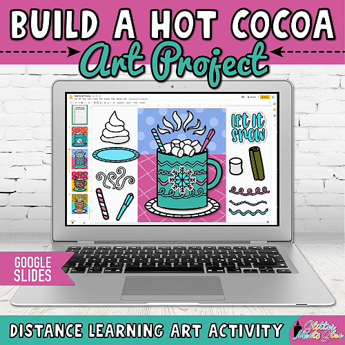 digital hot chocolate art project for kids distance learning