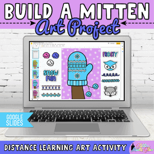 digital mitten art project in google slides for kids