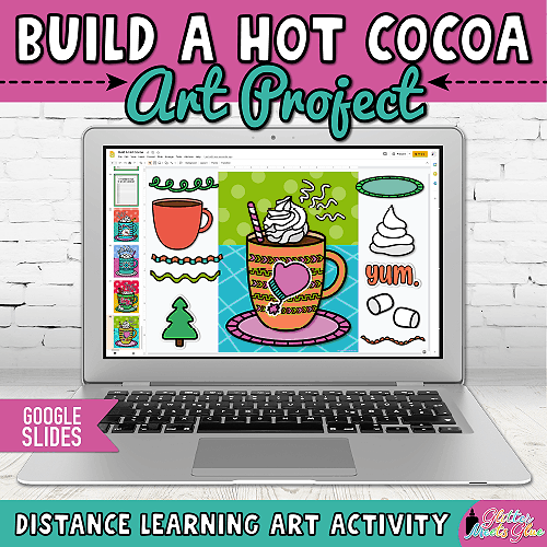 hot chocolate craft for kids distance learning