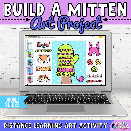 mitten craft for kids distance learning