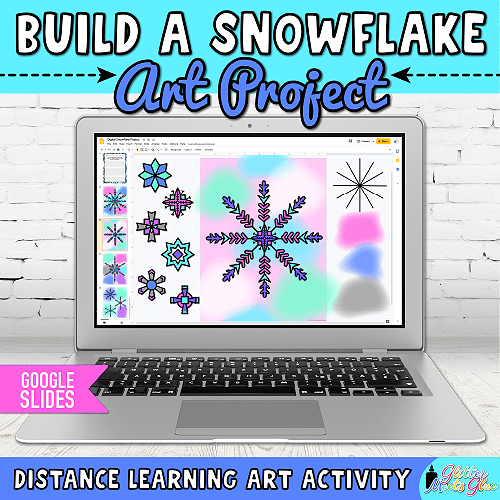 virtual snowflake craft for kids