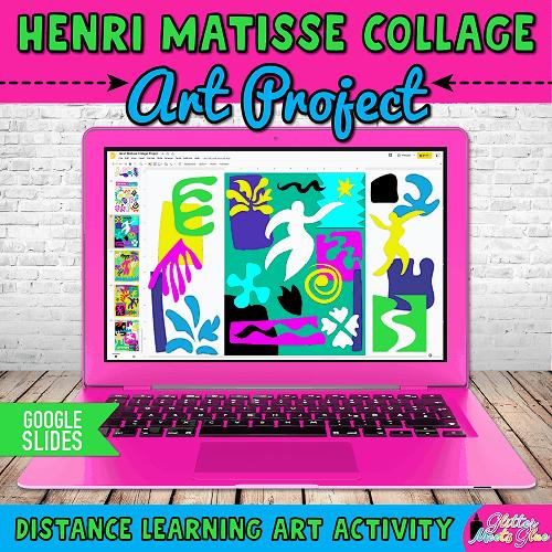 henri matisse for kids project on google slides