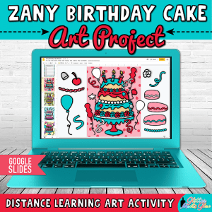 digital birthday cake art project for dr. seuss birthday