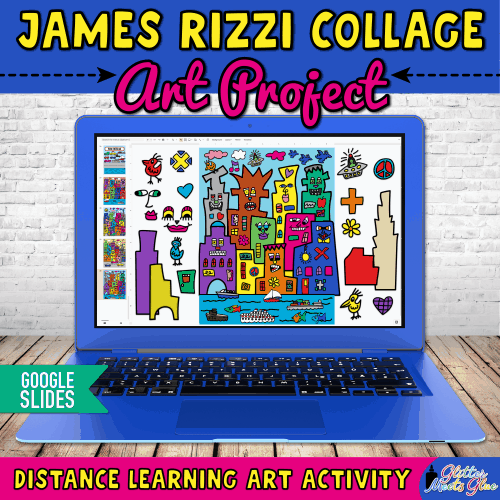 digital james rizzi art lesson for kids remote learning