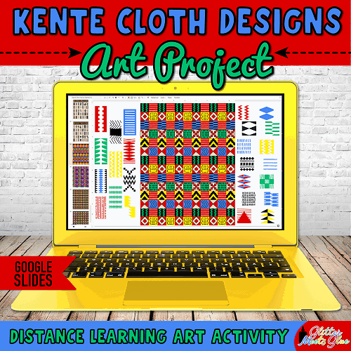digital kente cloth art project for kids
