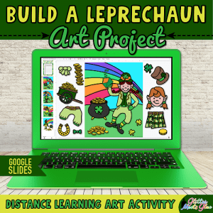 digital leprechaun art project for kids