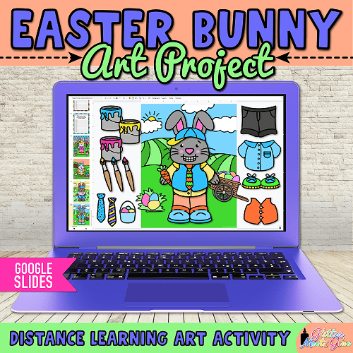 build an easter bunny on google slides