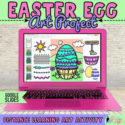 digital easter egg project for kids distance learning