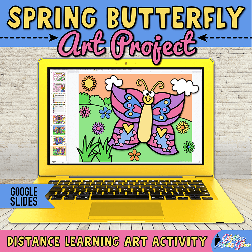 virtual butterfly crafts for kids remote learning