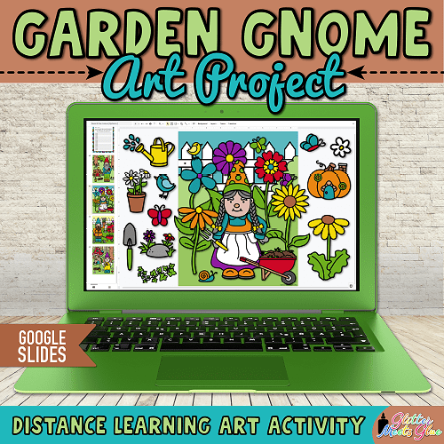 digital garden gnome art project for kids distance learning