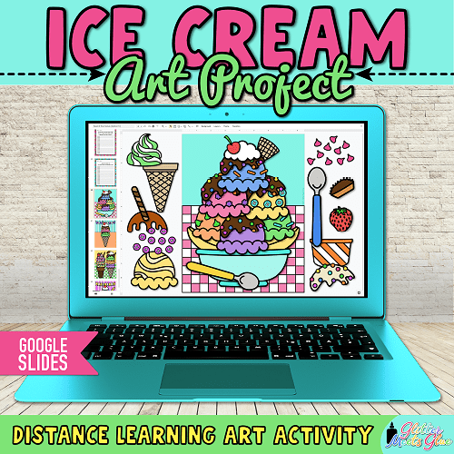 digital ice cream craft for kids distance learning
