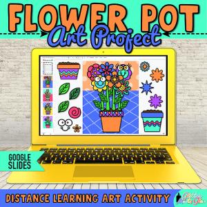 digital spring flowers art project for kids hybrid learning