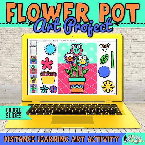 flower art lesson for kids remote learning