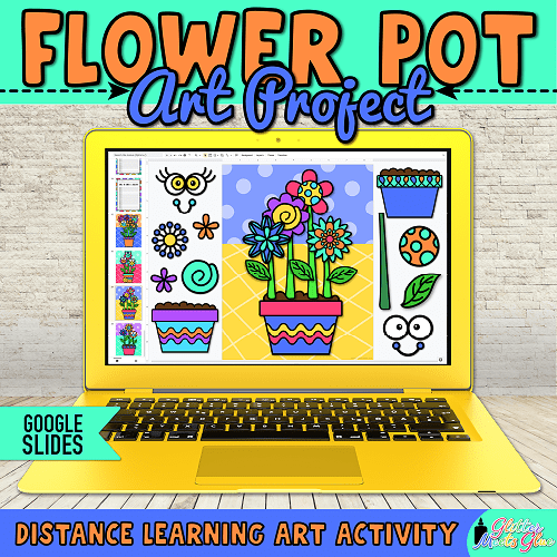 flower art project for homeschooling kids