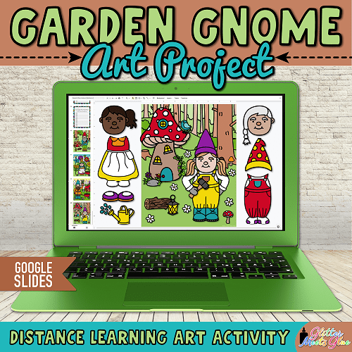gnome art project for students remote learning