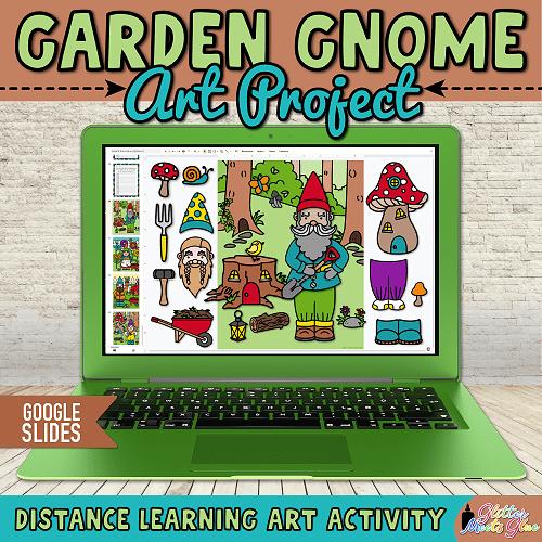 digital gnome crafts for kids hybrid learning
