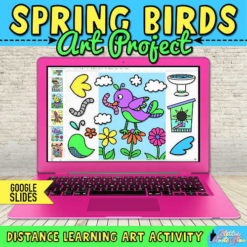 spring craftivity for virtual learning kids