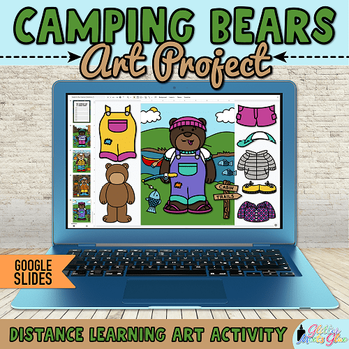 camping theme activity for first grade teachers hybrid learning