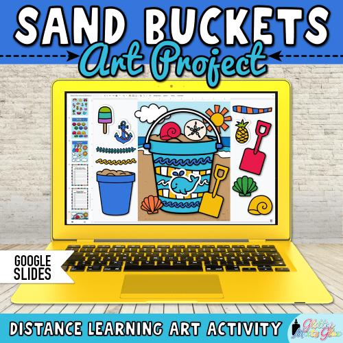 digital sand bucket art project on google slides for kids distance learning