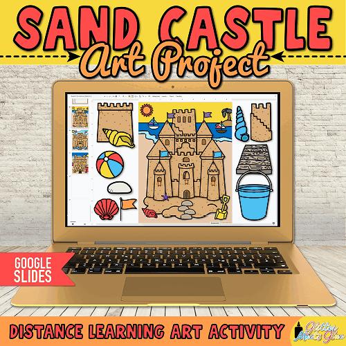 digital sand castle art project for kids distance learning